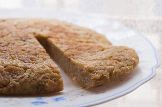 Tortilla de pan y plátano