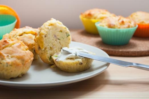 Muffins Calabacín y Jamón