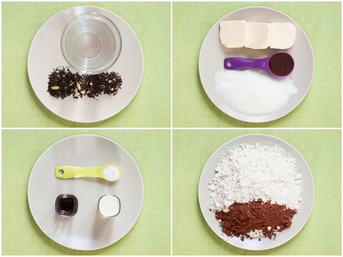 Muffins Cacao Té Pakistaní Ingredientes