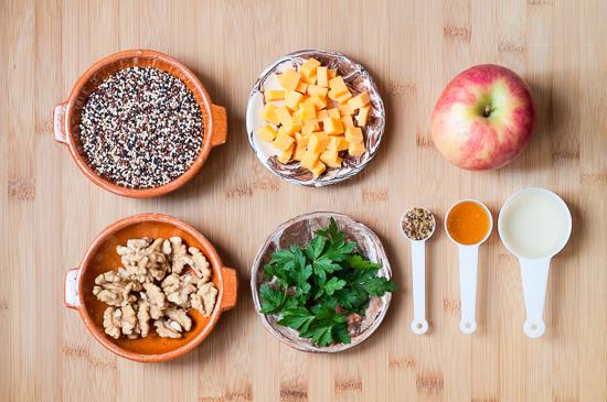 Ensalada de Quinoa Manzana Cheddar y Nueces (1)