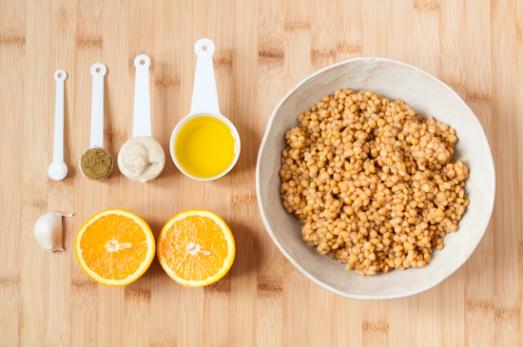 Hummus de lentejas y naranja 01